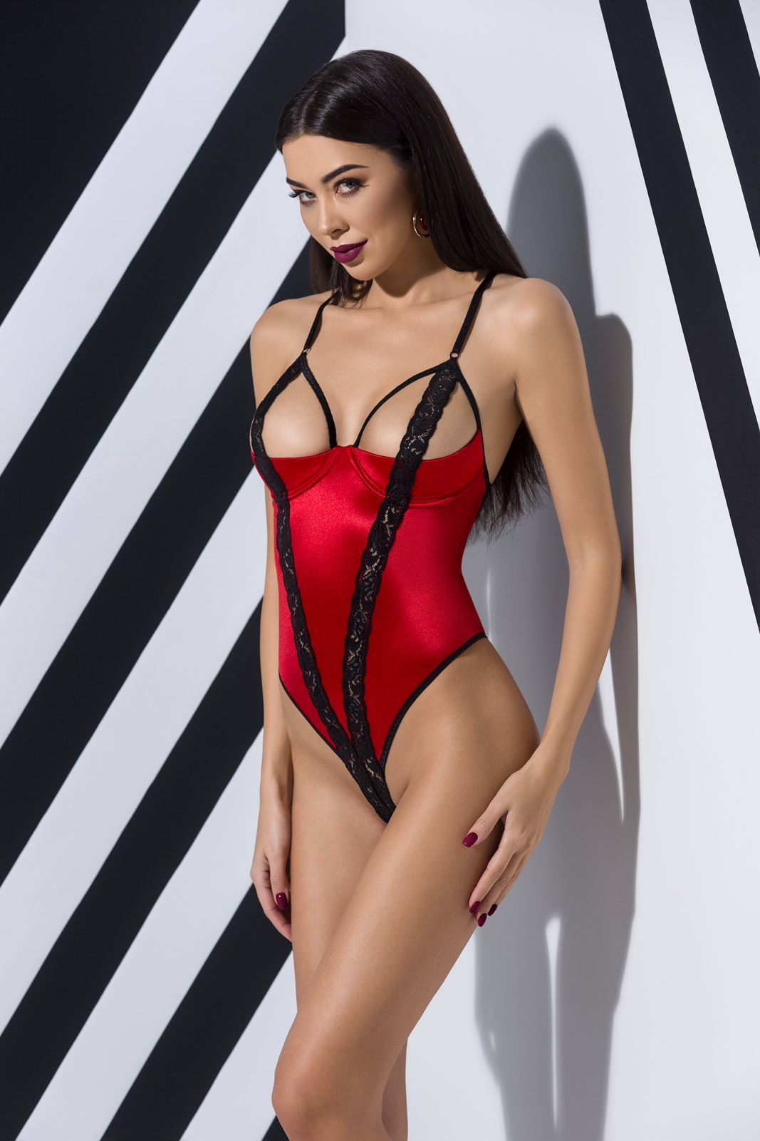 боди femmina body red