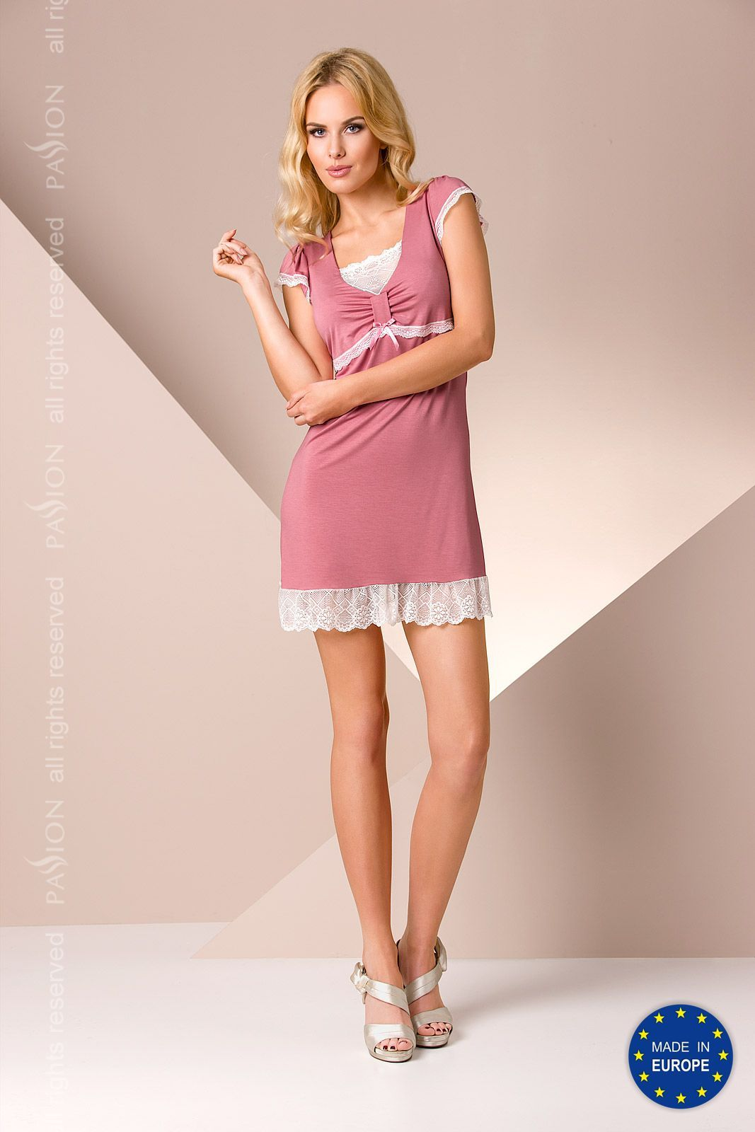 пижама py002 nightdress pink
