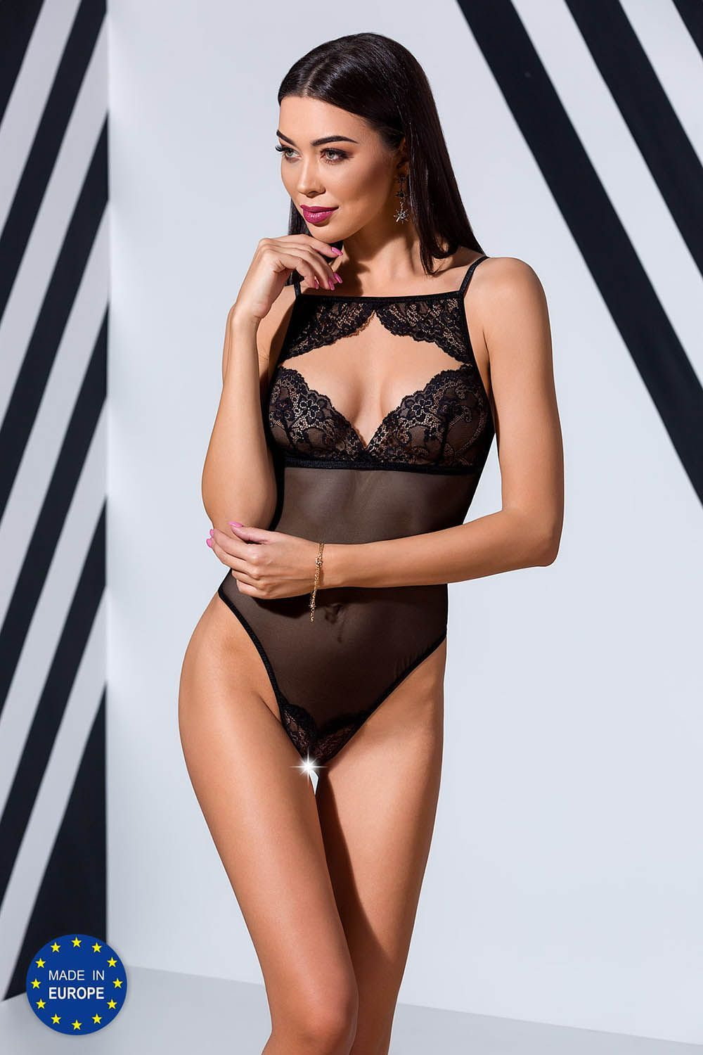 боди veronique body black