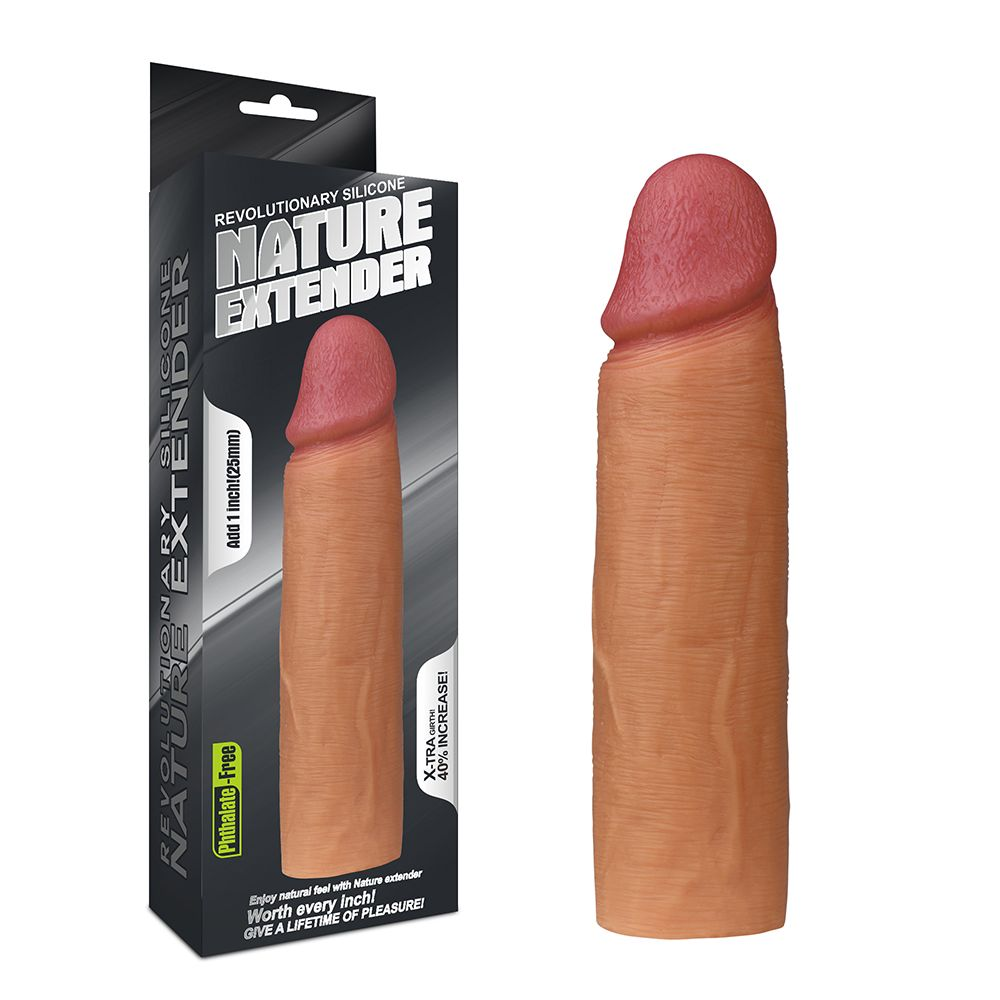 "насадка revolutionary silicone nature extender ""супер"" от love toy"